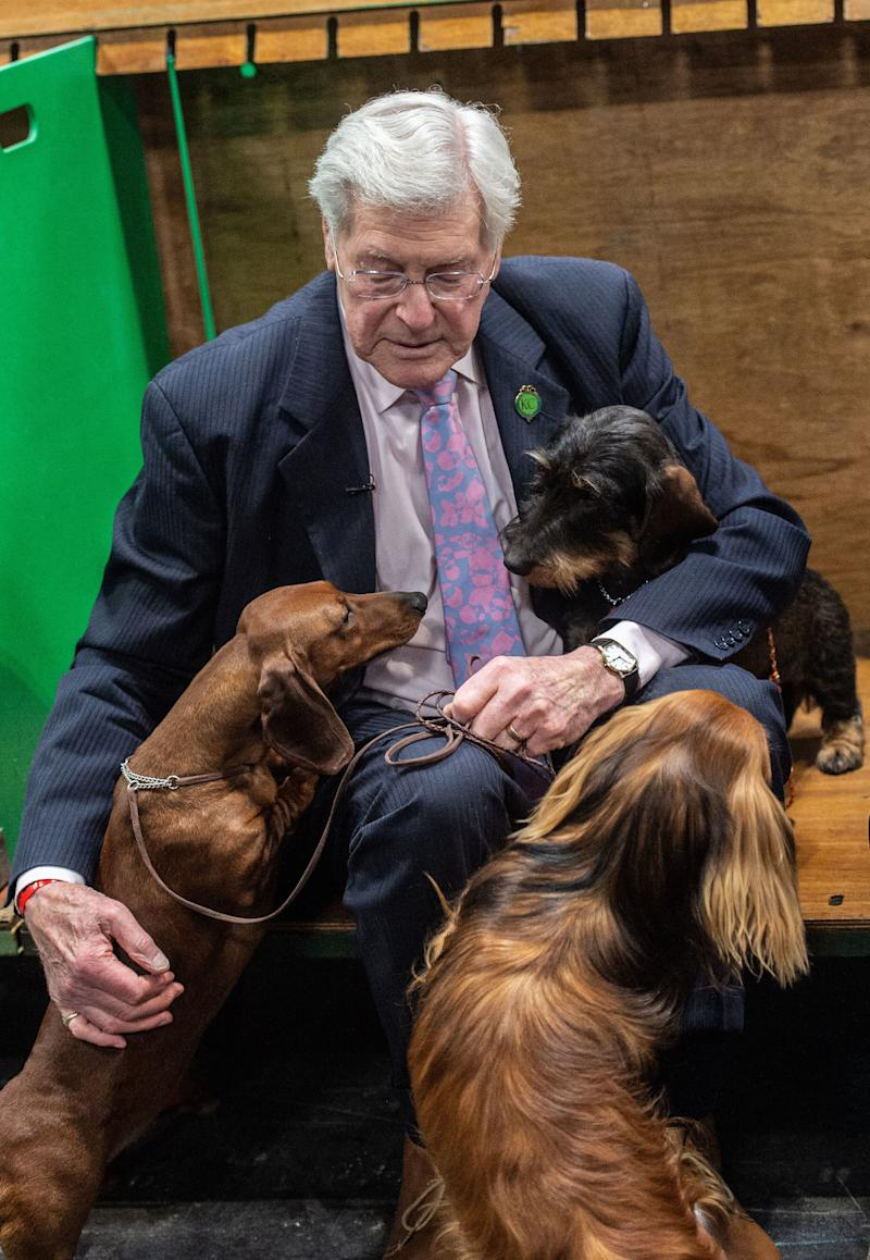 Peter Purves attends day 3 of Crufts Dog Show at the National Exhibition Centre (NEC) on 09 March 2019 in Birmingham, England. Picture date: Saturday 09 March, 2019. Photo credit: Katja Ogrin/ EMPICS Entertainment.