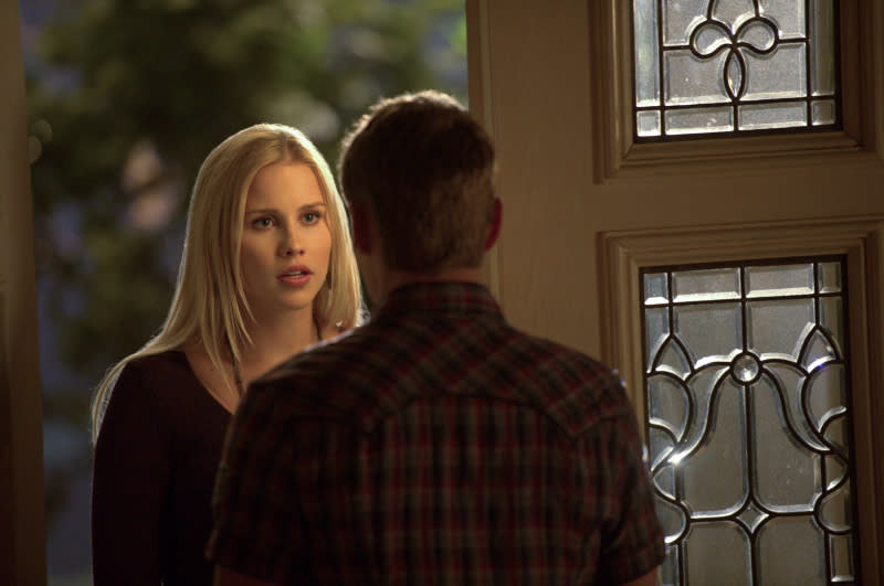 """Graduation"" -- Claire Holt as Rebekah and Zach Roerig as Matt"