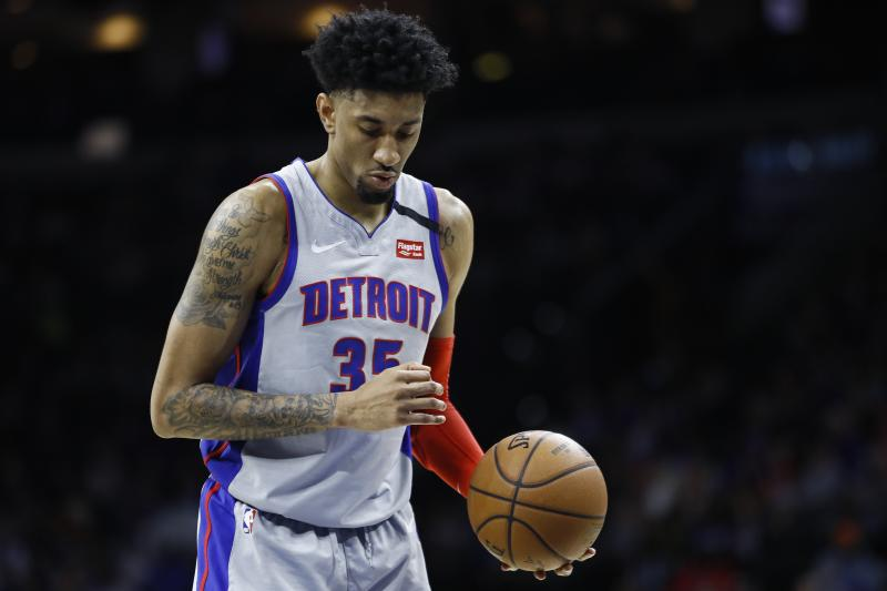 AP Source: Pistons' Christian Wood tests positive for virus