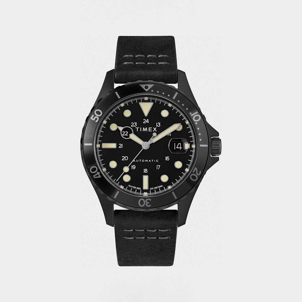 """<p><strong>Timex</strong></p><p>toddsnyder.com</p><p><strong>$259.00</strong></p><p><a href=""""https://go.redirectingat.com?id=74968X1596630&url=https%3A%2F%2Fwww.toddsnyder.com%2Fcollections%2Fwatches%2Fproducts%2Ftimex-black-ip-case-black-dial-black-bezel-black-l-black&sref=https%3A%2F%2Fwww.menshealth.com%2Ftechnology-gear%2Fg37546941%2Fbest-gifts-for-mechanics%2F"""" rel=""""nofollow noopener"""" target=""""_blank"""" data-ylk=""""slk:BUY IT HERE"""" class=""""link rapid-noclick-resp"""">BUY IT HERE</a></p><p>Timex watches have that kind of rugged, function-first feel to them, which is why we wouldn't be shy gifting one to a mechanic. Especially one that loses track of time while they're working on their latest projects. </p>"""