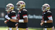 """John Lynch: """"We haven't had talks at all"""" on trading C.J. Beathard or Nick Mullens"""