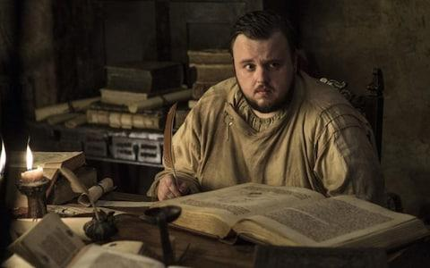 Samwell Tarly with his books