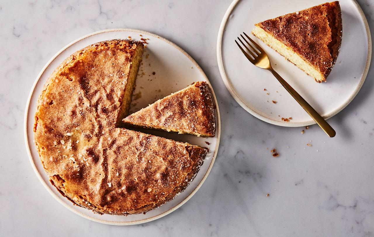 """Even die-hard butter devotees admit that olive oil makes exceptionally good cakes. EVOO is liquid at room temperature, so it lends superior moisture over time. In fact, olive oil cake only improves the longer it sits—this dairy-free version will keep on your counter for days (not that it'll last that long). <a href=""""https://www.bonappetit.com/recipe/olive-oil-cake?mbid=synd_yahoo_rss"""">See recipe.</a>"""