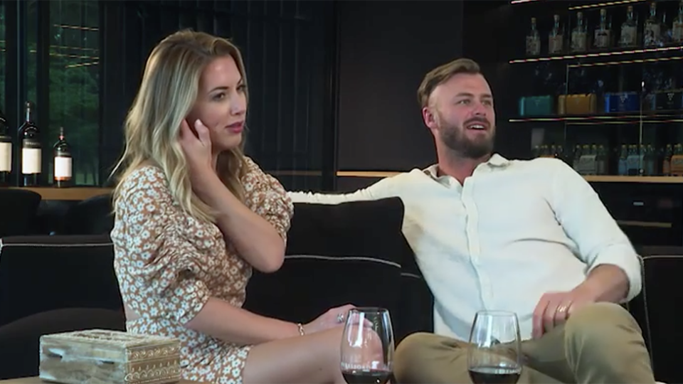 MAFS couple Jamie and Chris hand washing confrontation
