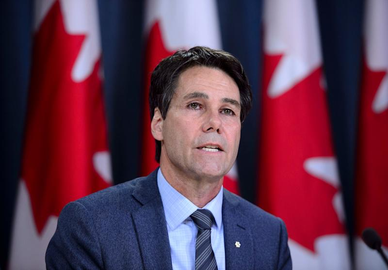 Dr. Eric Hoskins, Chair of the Advisory Council on the Implementation of National Pharmacare, speaks during a press conference at the National Press Theatre in Ottawa on June 12, 2019. (Photo: Sean Kilpatrick/CP)