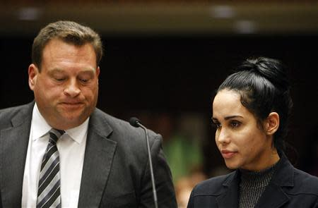 Nadya Suleman appears with her attorney Arthur J. La Cilento for arraignment in Los Angeles