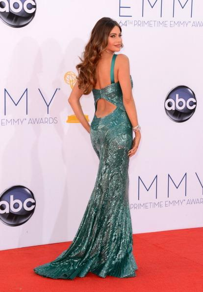 "<div class=""caption-credit""> Photo by: Getty Images</div><div class=""caption-title"">Dress of the year</div>The Zuhair Murad sequined turquoise gown Vergara wore to this year's Emmy Awards is undoubtedly our favorite red carpet look of 2012. The mermaid-style gown, which the actress has become synonymous with, was included in every Emmy best dressed list. And even though a little wardrobe malfunction almost marred her night, the beautiful Murad gown has now become Vergara's Hollywood classic. <br> <br> <b><a href=""http://shine.yahoo.com/latina/"" data-ylk=""slk:For content that speaks to you, visit Shine Latina"" class=""link rapid-noclick-resp"">For content that speaks to you, visit Shine Latina</a></b>"