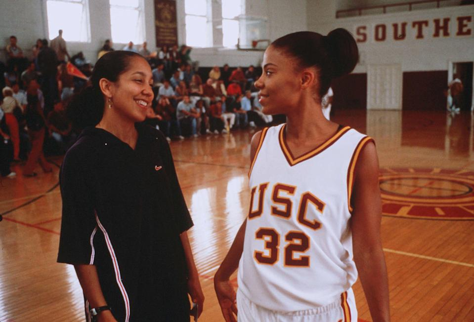 "<p><strong><em>Love & Basketball</em></strong>(2000)</p><p>Monica (Sanaa Lathan) has dreams that she hopes will take her all the way to the top. Like her neighbour (and future boyfriend), Quincy McCall (Omar Epps), Monica has wanted to become a professional basketball player for as long as she can remember. Quincy and Monica love each other, but they also are loyal to their ambitions — which might pull them in different directions.</p><p><strong>Why You Should Watch It:</strong> Monica and Quincy's relationship is one of the best in movie history. Eventually, one of their careers will have to be prioritised. The movie's last scene will make you smile.</p><span class=""copyright"">Sidney Baldwin/New Line/Kobal/REX/Shutterstock</span>"