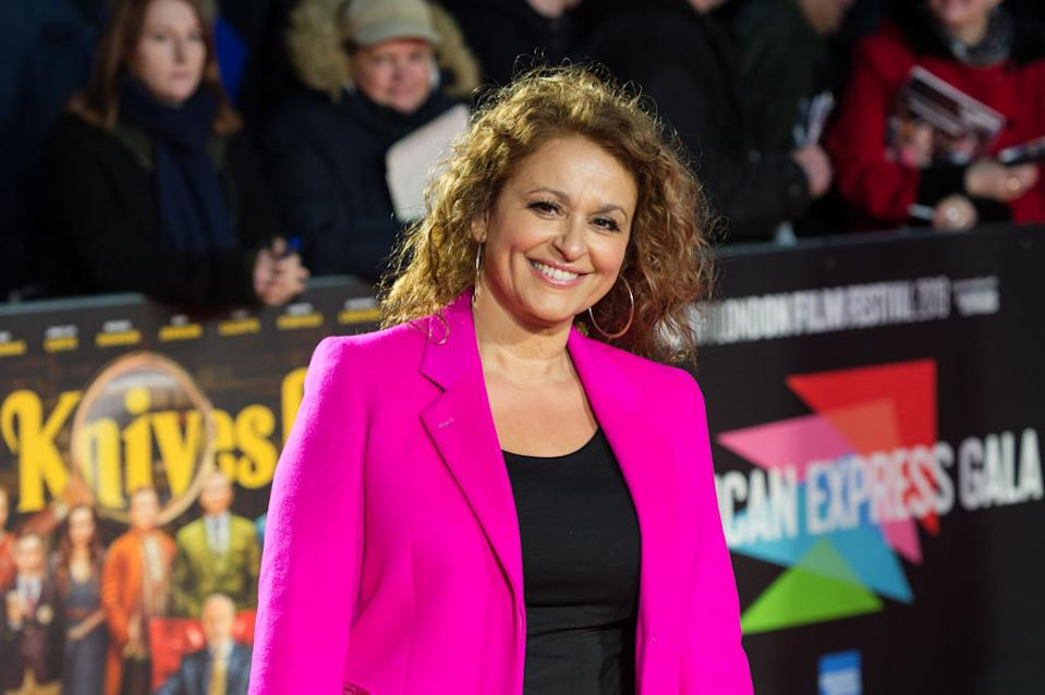 Nadia Sawalha has been praised for sharing a body positive post to Instagram, pictured October 2019. (Getty Images)