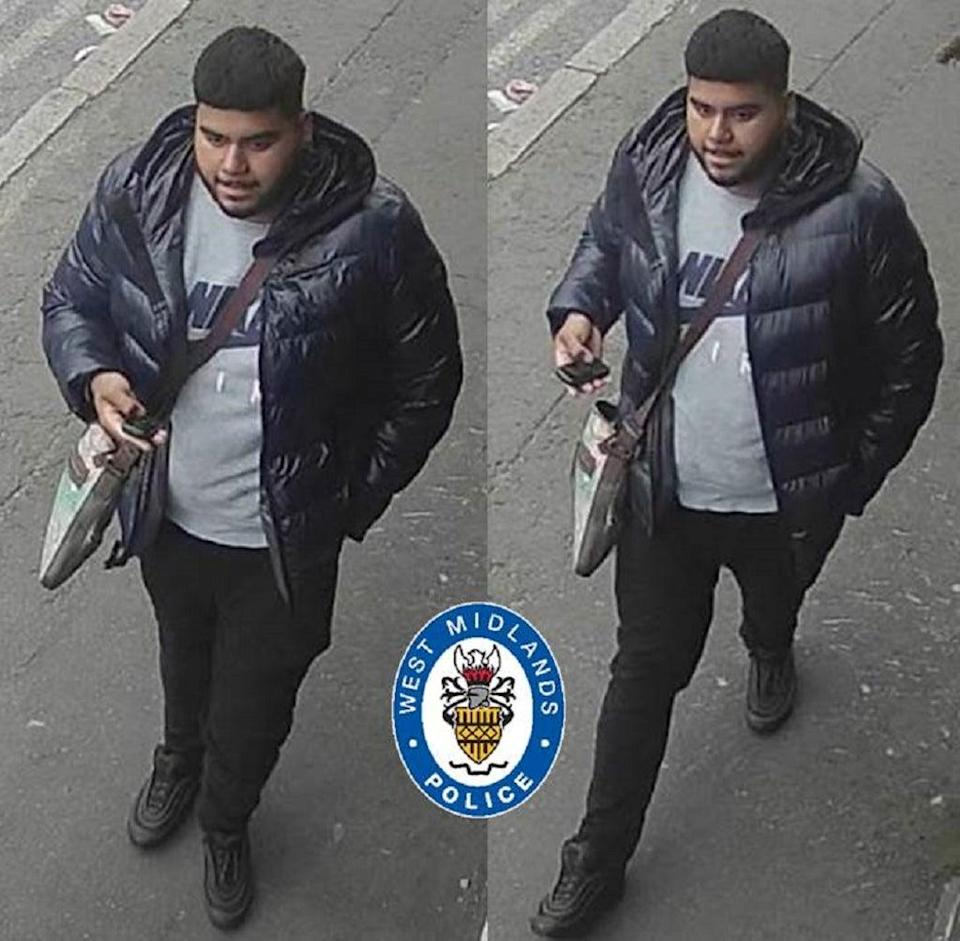 An image of a suspect released by police investigating a fatal hit-and-run in Birmingham (West Midlands Police/PA)