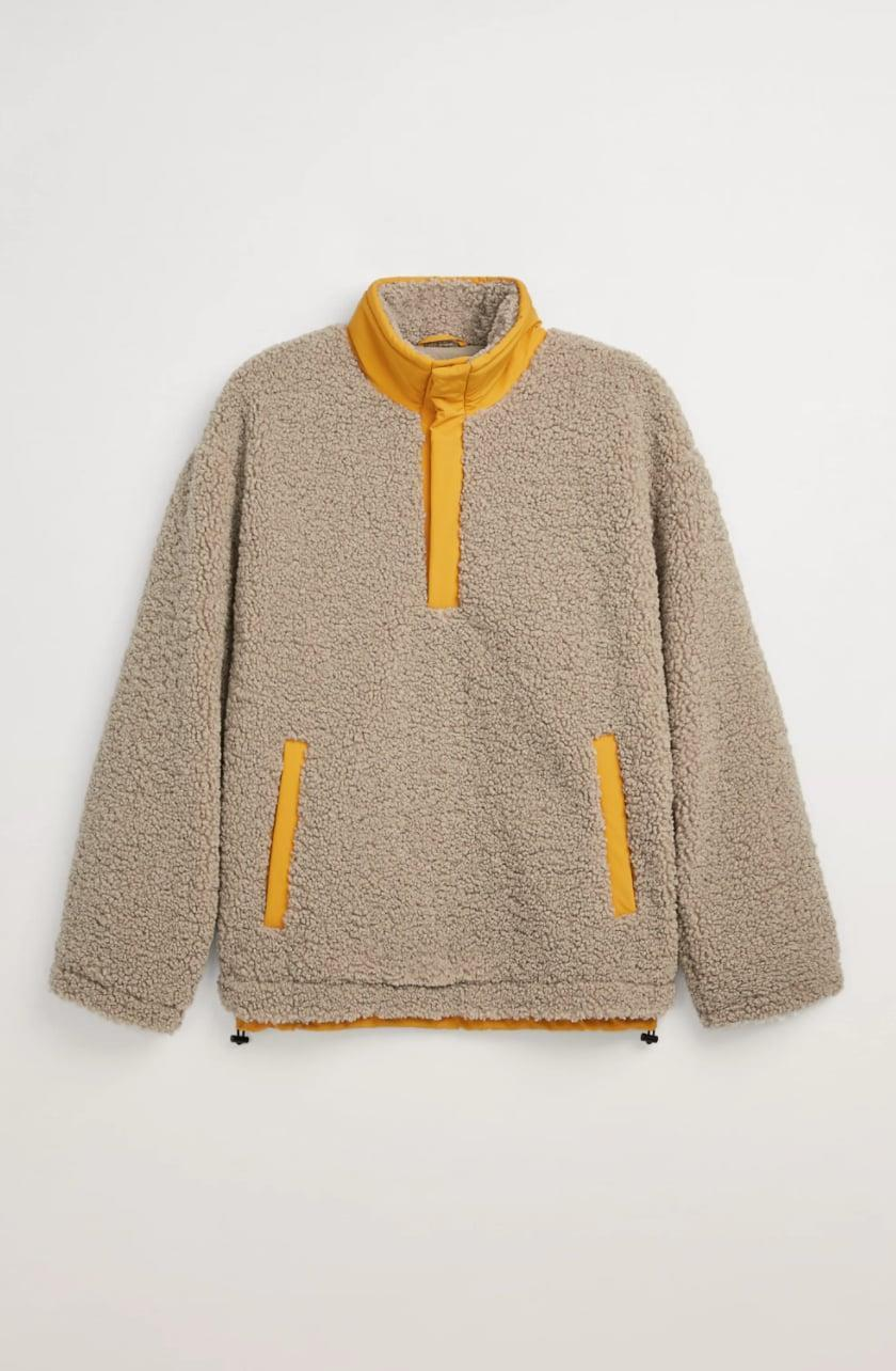 <p><span>Zara Fleece Pullover Jacket</span> ($90)</p>