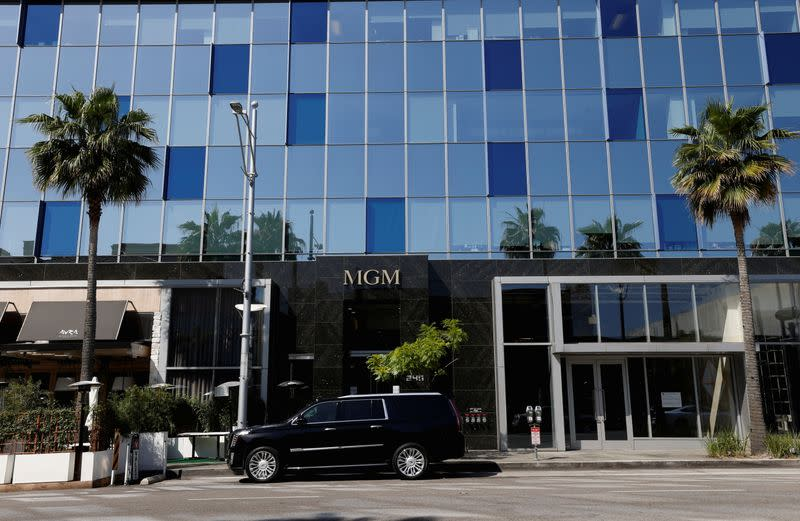 A general view shows the offices of MGM Studios in Beverly Hills
