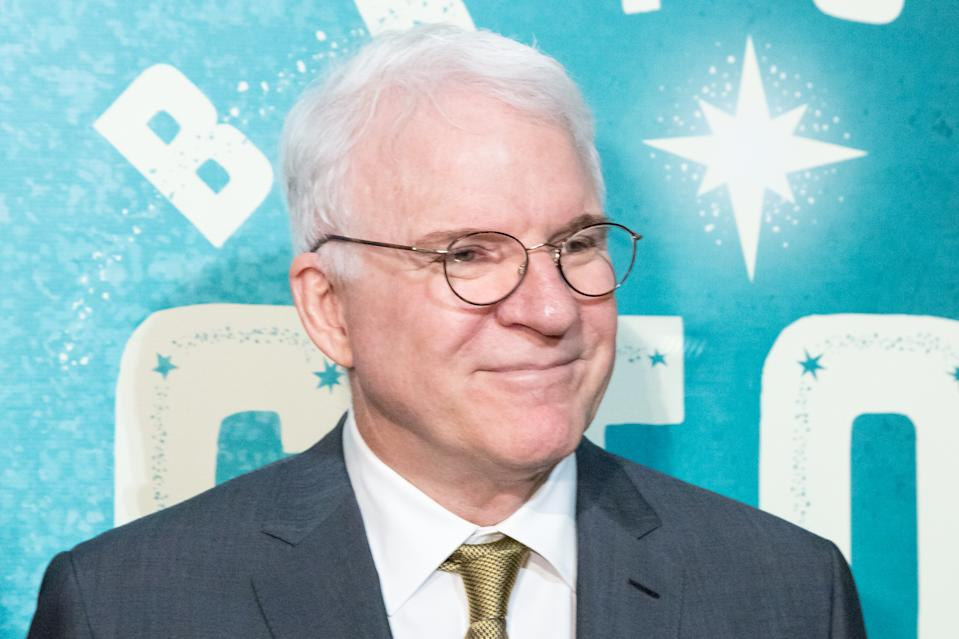 Steve Martin (pictured in 2017) says he's received the COVID-19 vaccination. (Photo: Greg Doherty/Getty Images)