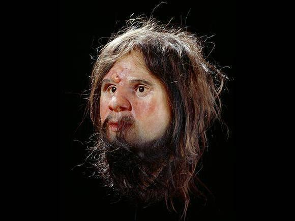 An earlier bust of Cheddar Man, who scientists previously believed had light skin (Natural History Museum)