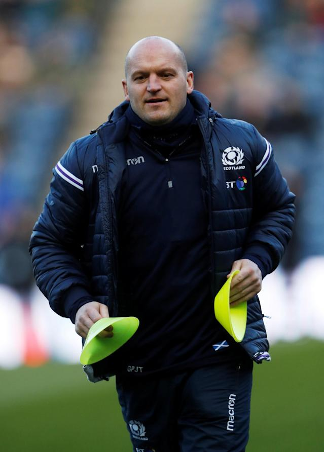 Rugby Union - Six Nations Championship - Scotland vs England - BT Murrayfield Stadium, Edinburgh, Britain - February 24, 2018 Scotland head coach Gregor Townsend during the warm up before the match Action Images via Reuters/Lee Smith