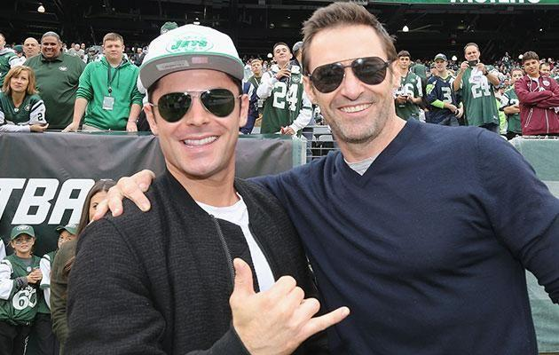 Zac reckons Hugh (pictured together in 2016) saved his life while filming The Greatest Showman. Source: Getty