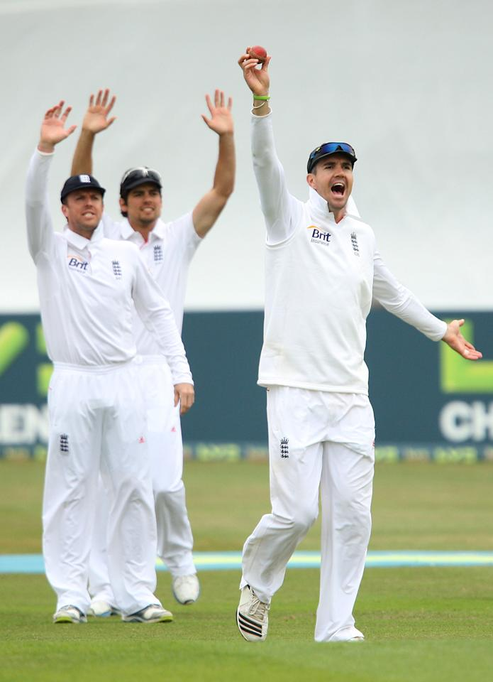 England's Kevin Pietersen appeals for an early wicket during day three of the International Warm up match at The County Ground, Chelmsford.