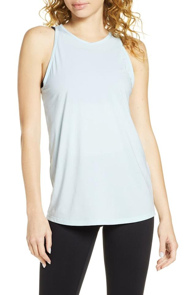"""<p>This <a href=""""https://www.popsugar.com/buy/Zella-Strength-Racerback-Tank-554980?p_name=Zella%20Strength%20Racerback%20Tank&retailer=shop.nordstrom.com&pid=554980&price=25&evar1=fit%3Aus&evar9=47291114&evar98=https%3A%2F%2Fwww.popsugar.com%2Fphoto-gallery%2F47291114%2Fimage%2F47291116%2FZella-Strength-Racerback-Tank&list1=shopping%2Cworkout%20clothes%2Cproducts%20under%20%2425%2Cathleisure%2Caffordable%20shopping&prop13=api&pdata=1"""" rel=""""nofollow"""" data-shoppable-link=""""1"""" target=""""_blank"""" class=""""ga-track"""" data-ga-category=""""Related"""" data-ga-label=""""https://shop.nordstrom.com/s/zella-strength-racerback-tank/4745994/full?origin=category-personalizedsort&amp;breadcrumb=Home%2FWomen%2FClothing%2FActivewear&amp;color=purple%20nebula"""" data-ga-action=""""In-Line Links"""">Zella Strength Racerback Tank</a> ($25) will always be one you want to reach for.</p>"""