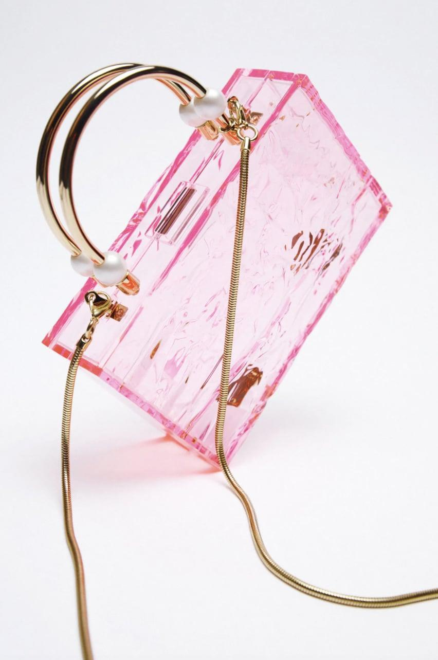 <p>We have a feeling this unique <span>Zara Pearl Strap Methacrylate Box Bag</span> ($60) will sell out fast.</p>