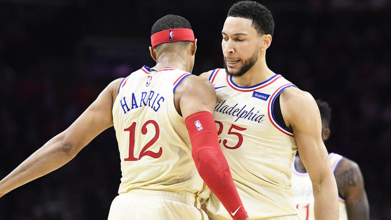 Ben Simmons had a monster stat line in an impressive Christmas Day victory over the Eastern Conference leading Milwaukee Bucks. (Photo by Sarah Stier/Getty Images)