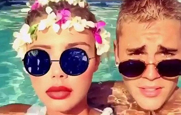 Sahara and Justin Bieber reportedly had a fling while in Hawaii. Source: Snapchat