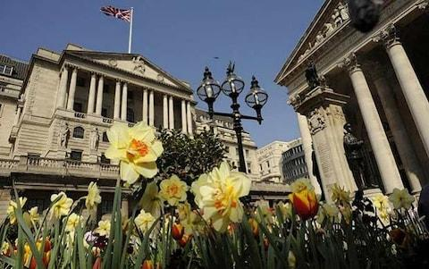 Bank of England in Spring