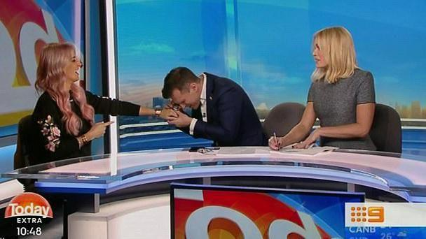 The hosts joked about the size of the ring. Source: TODAY