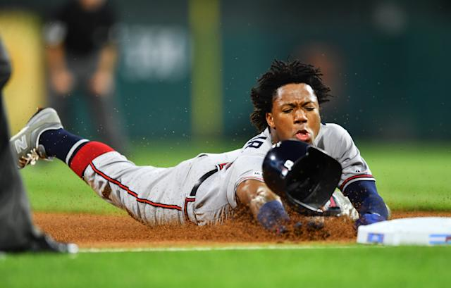 Ronald Acuna Jr.(Photo by Kyle Ross/Icon Sportswire via Getty Images)