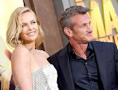 Charlize Theron and Sean Penn arrive at the Los Angeles premiere of Mad Max: Fury Road at TCL Chinese Theatre IMAX on May 7.