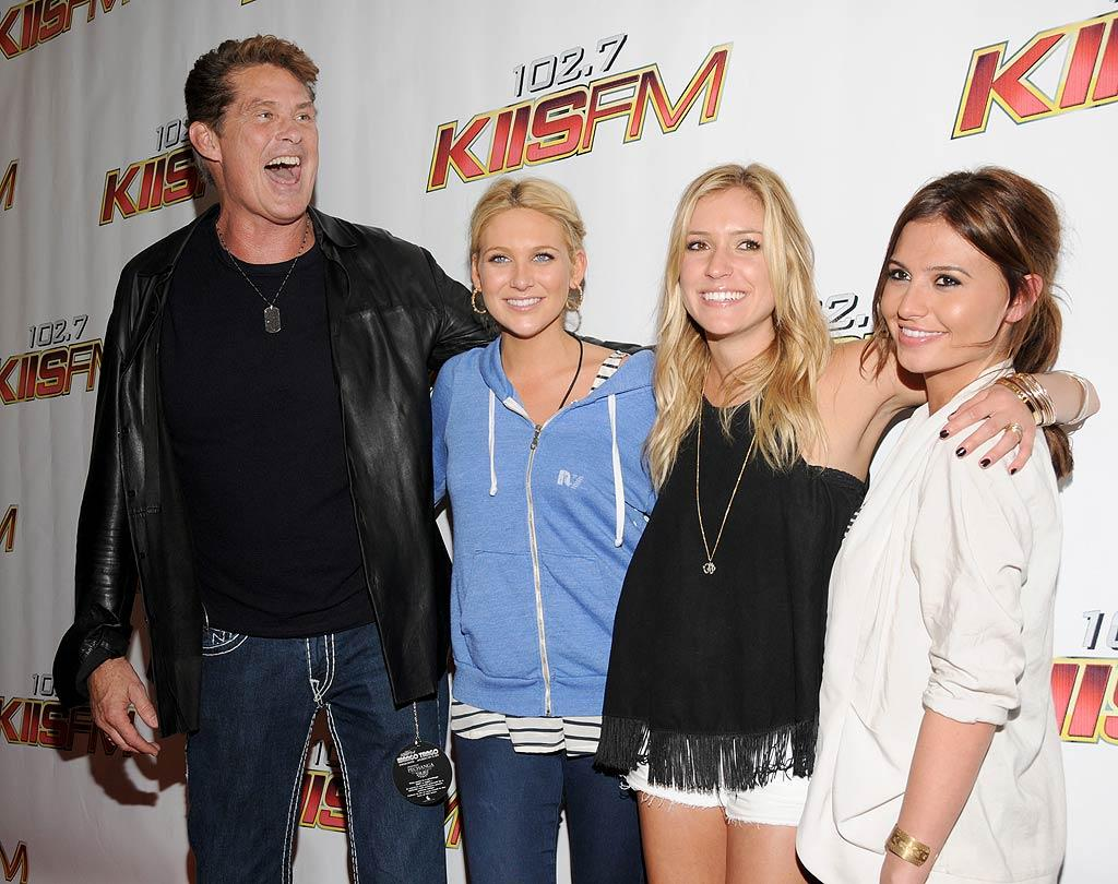"Wow, talk about a random group of people! Former ""America's Got Talent"" judge David Hasselhoff chatted up ""The Hills"" hotties Stephanie Pratt, Kristin Cavallari, and Stacie ""the bartender"" Hall, presumably about the pitfalls of life on reality TV. Mark Sullivan/<a href=""http://www.wireimage.com"" target=""new"">WireImage.com</a> - May 15, 2010"