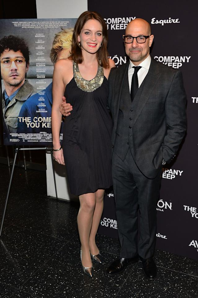 """NEW YORK, NY - APRIL 01:  Actor Stanley Tucci (R) and Felicity Blunt attend """"The Company You Keep"""" New York Premiere at The Museum of Modern Art on April 1, 2013 in New York City.  (Photo by Larry Busacca/Getty Images)"""