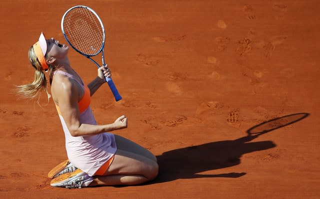 She won her fifth and final grand slam title at the 2014 French Open after defeating Simona Halep in the final (David Vincent/AP)