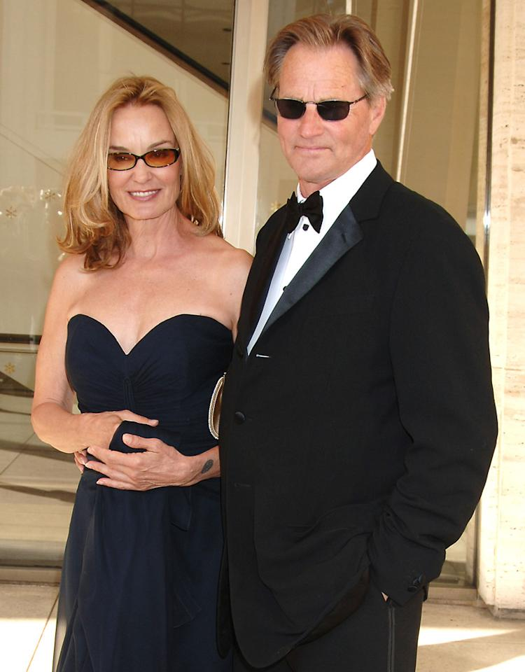 Jessica Lange and Sam Shepard during Jessica Lange Honored by the Film Society of Lincoln Center - April 17, 2006 at Avery Fisher Hall in New York City, New York, United States. (Photo by Robin Platzer/FilmMagic)