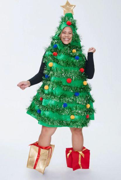 """<a href=""""https://www.forever21.com/us/2000417807.html"""" target=""""_blank"""" rel=""""noopener noreferrer"""">This is the outfit</a> to wear if you are really, really, really into the holiday season. Also, dignity is overrated."""