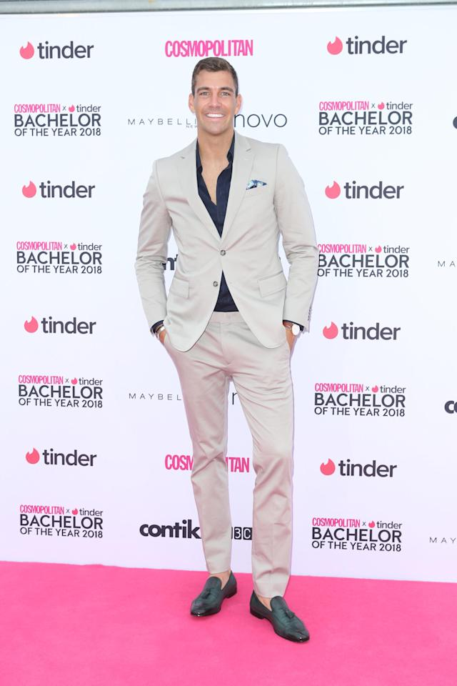 <p>Cameron Cranley has appeared looking very dapper wearing a light grey suit on the 2018 Cosmopolitan Bachelor Of The Year Awards. He was joined by other Bachelor and Bachelorette stars and other celebrities.</p>