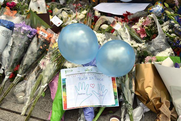 Hundreds of flowers have been laid at the school. Source: Getty