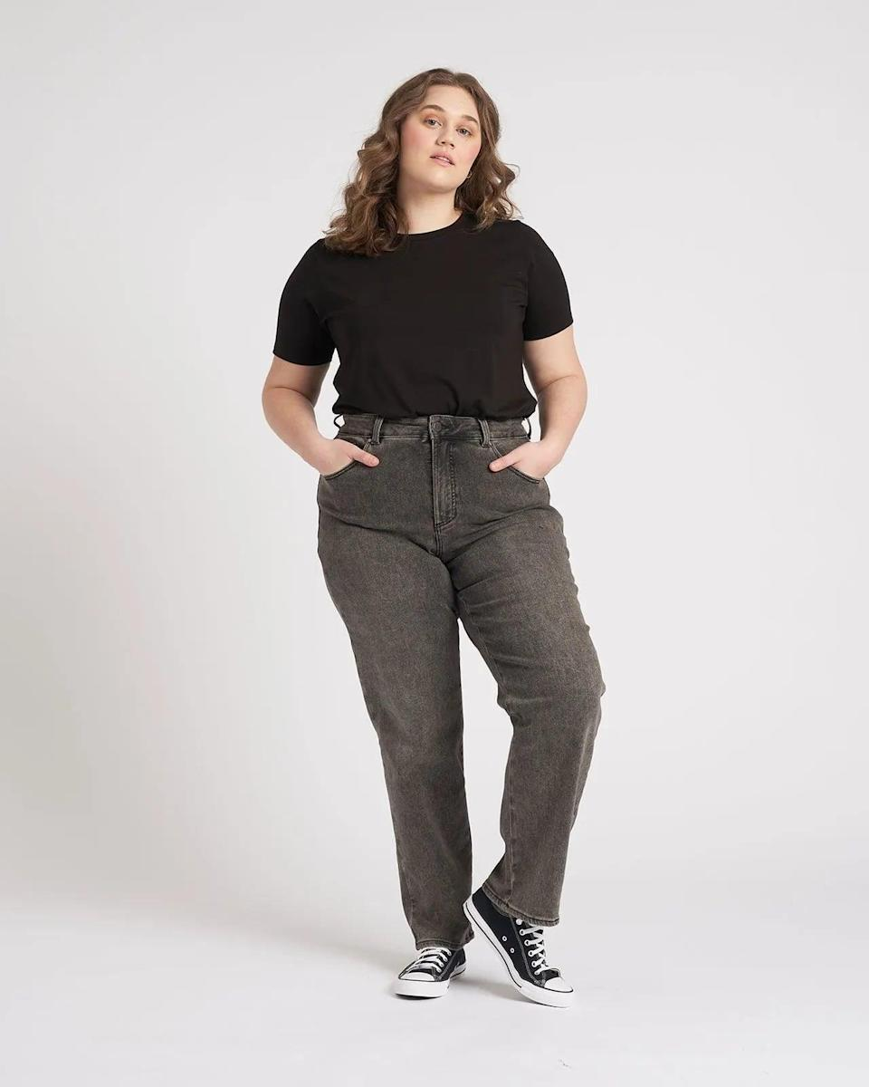 """<p>""""My current favorite pair of jeans are the <span>Universal Standard Donna High Rise Curve Straight Leg Jeans</span> ($98). I wear a size 18 tall in the stonewash and love these jeans for many reasons, but here are a few. The seaming detail on the back of these curve jeans provide full coverage of my rear end with no gaps appearing when I move or sit. The fabric is sturdy yet stretchy. Best of all, all the pockets are big pockets that can actually fit my iPhone. Even the front pockets!"""" - Angelica Wilson, associate editor, Fitness</p>"""