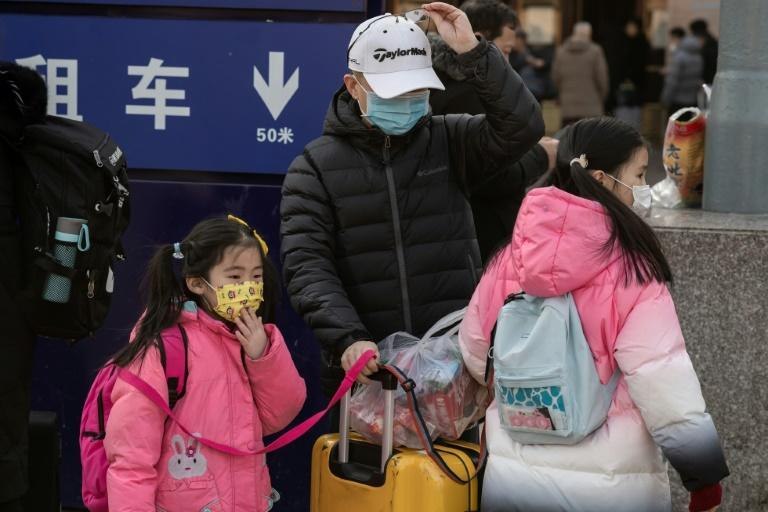 The discovery of human-to-human transmission comes as hundreds of millions of people are criss-crossing China in packed trains, buses and planes this week to celebrate the Lunar New Year (AFP Photo/NICOLAS ASFOURI)