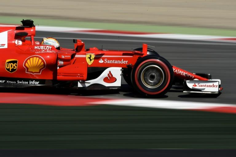 Ferrari's German driver Sebastian Vettel takes part in testing at the Circuit de Catalunya in Montmelo, on the outskirts of Barcelona, on March 9, 2017, the third day of the second week of tests ahead of the Formula One Grand Prix season