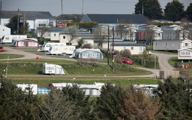 The incident took place at the Tencreek Holiday Park in Looe in Cornwall. (SWNS)
