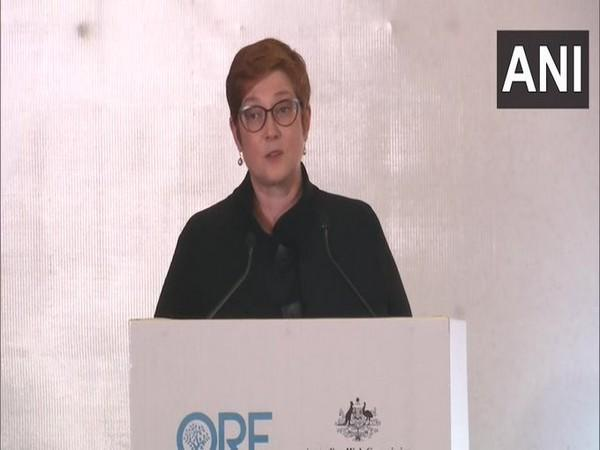 Australian Foreign Minister Marise Payne at an event in New Delhi on Friday.