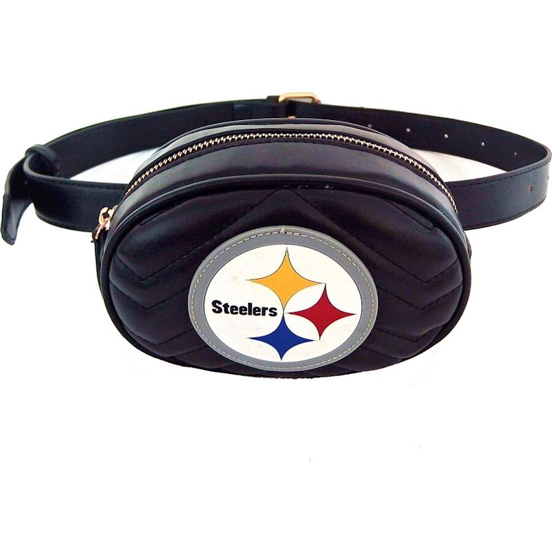 Steelers Faux Leather Belt Bag