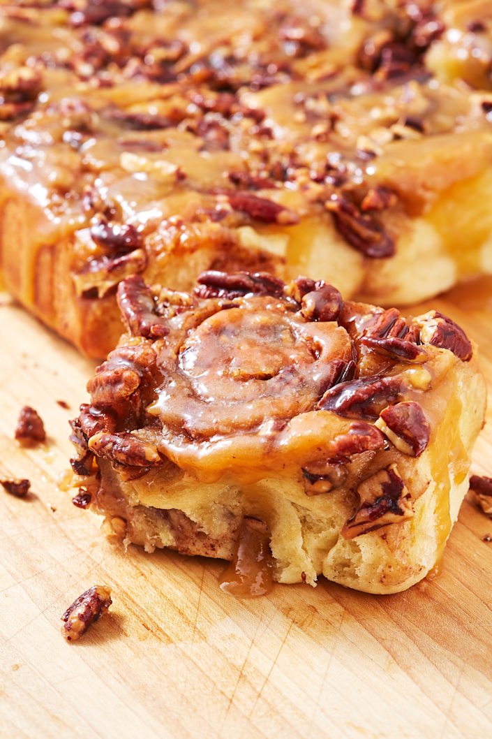 """<p>With these, the student becomes the master.</p><p>Get the recipe from <a href=""""https://www.delish.com/cooking/recipe-ideas/a26830025/sticky-buns-recipe/"""" rel=""""nofollow noopener"""" target=""""_blank"""" data-ylk=""""slk:Delish"""" class=""""link rapid-noclick-resp"""">Delish</a>.</p>"""