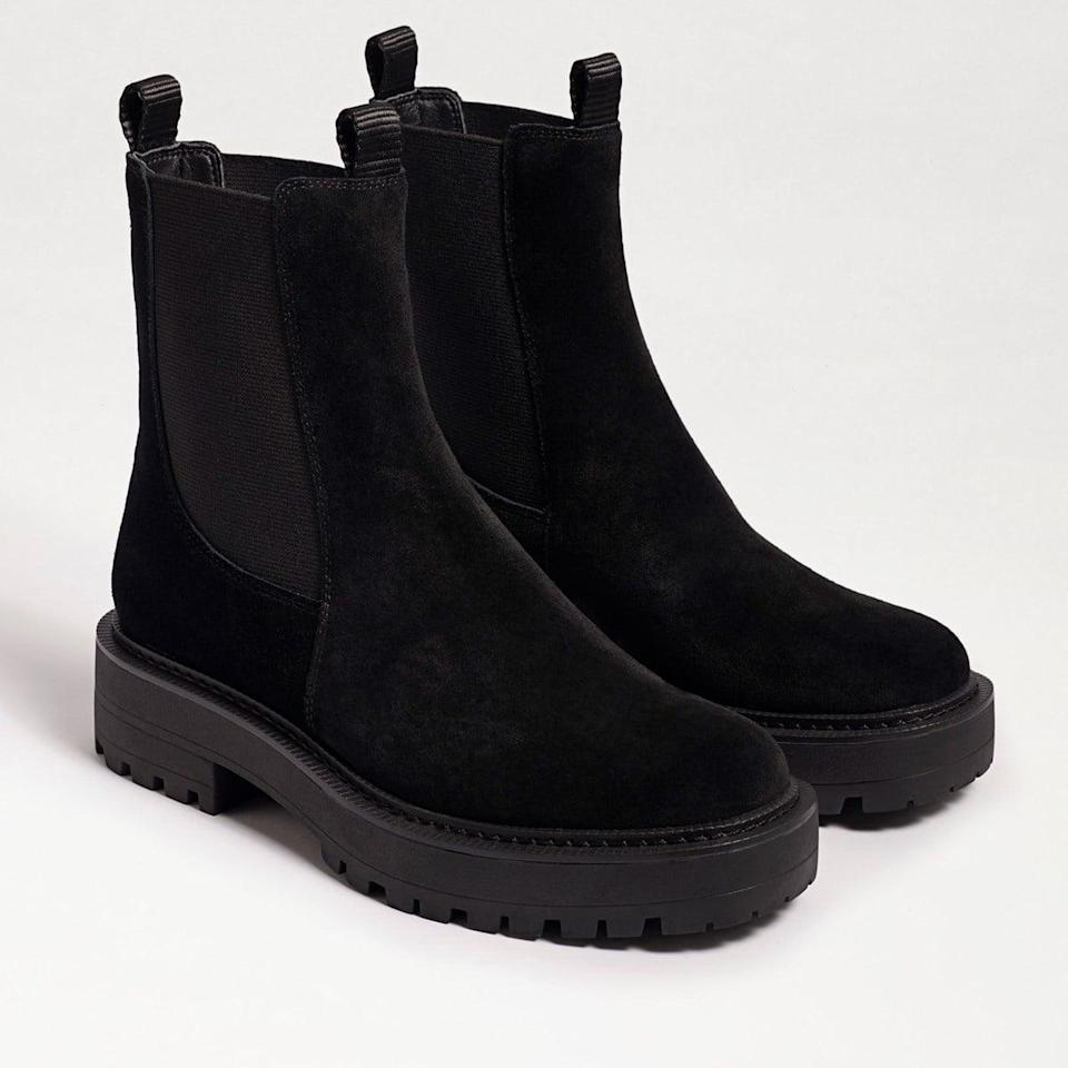 <p>We're stocking up on these <span>Sam Edelman Laguna Chelsea Waterproof Boots</span> ($150).</p>