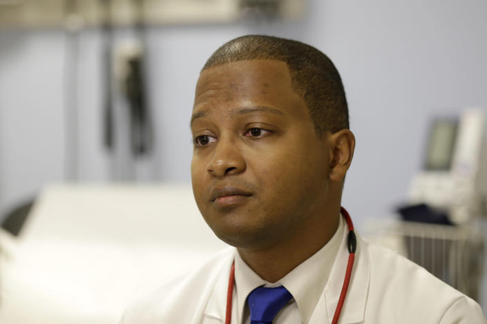 FILE - This Tuesday, Nov. 3, 2015 file photo shows Dr. Raymond Givens at the Columbia University Medical Center in New York. On Tuesday, May 11, 2021, the American Medical Association released a comprehensive plan to dismantle structural racism inside its own ranks and within the U.S. medical establishment. ''People are dying on a daily basis from the same structural racism that they are now acknowledging,'' Givens says. ''Given that, there's a need to act as quickly as is responsible.'' (AP Photo/Seth Wenig)