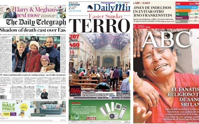 The Daily Telegraph, Sri Lanka's Daily Mirror, and Spain's ABC newspapers