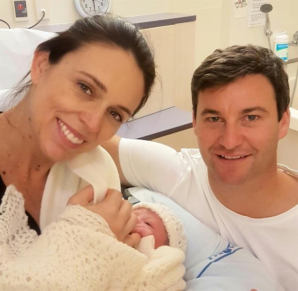 New Zealand PM Jacinda Ardern is only the second world leader to give birth while in office