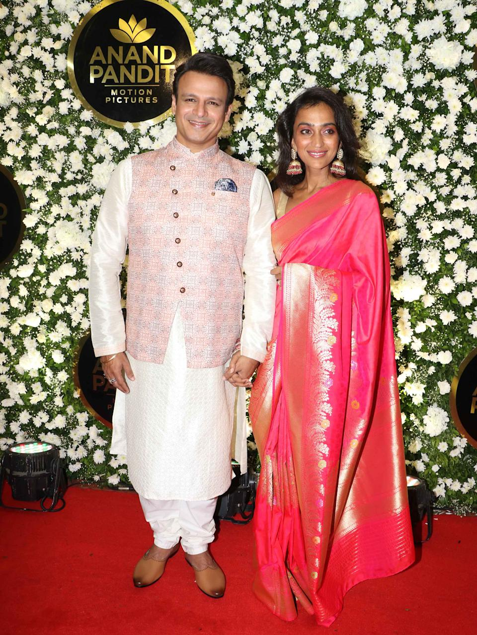 Vivek Oberoi and his wife were in their traditional best