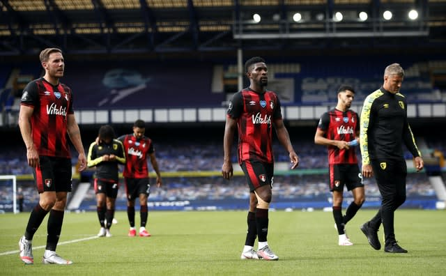 Bournemouth suffered relegation after five years in the top flight despite a final-day win at Everton