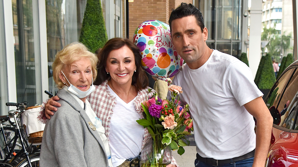 Shirley Ballas, seen here with her mum and boyfriend Danny, says Christmas is always difficult when you've lost a loved one (Image: Getty Images)